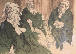 A limited edition print by Feliks Topolski RA