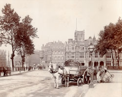 Old photo with horse and carriage appears courtesy of Westminster City Archives
