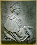Queen Elizabeth II bas-relief sculpture