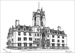 Illustration of Middlesex Guildhall