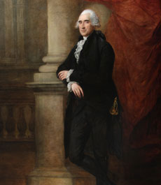 Photo of painting of William Mainwaring, by Gainsborough Dupont