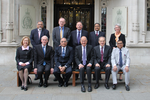 Delegation of Senior British and Indian Judges in front of The Supreme Court
